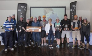 Prizegiving of the Pelle P Kip Regatta 2017 run by Royal Western Yacht Club at Kip Marina on the Clyde.  Overall and Class winners Image Credit Marc Turner